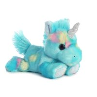 "Blueberry Ripple Unicorn Bright Fancies 7"" Stuffed Animal by Aurora Plush 16701"