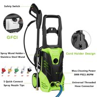 Hifashion Electric High Pressure Washer Dual Sprayer Cleaner Machine 1400W ,1500PSI 1.3GPM HFON
