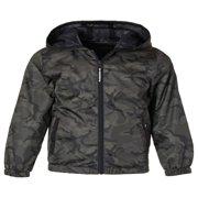 Camo Print Zip Up Windbreaker Jacket (Big Boys)