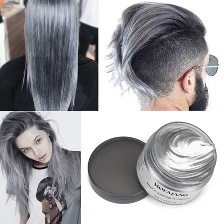 Mofajang Hair Wax Temporary Hair Coloring Styling Cream Mud Dye  Gray  Walmart.com