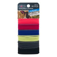 (2 Pack) Scunci Everyday & Active Hair Ties, Colors, 30 Ct