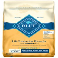 Blue Buffalo Life Protection Formula Natural Adult Small Breed Healthy Weight Dry Dog Food, Chicken and Brown Rice, 15-lb