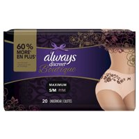 Always Discreet Boutique Maximum Protection Underwear (Choose Size and Count)