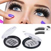 9ad7091602e Magnetic Eyelashes, 8 Lashes Magnetic False Eyelashes, 3D Reusable Soft False  Eyelashes No Glue