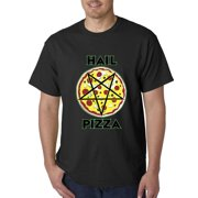 Hail Pizza Pentagram Mens T-shirt