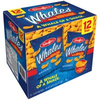(2 Pack) Stauffer's Whales Cheddar Cheese Baked Snack Crackers, 1.5 oz, 12 ct