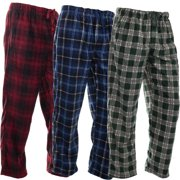 DG Hill (3 Pairs) Mens PJ Pajama Pants Bottoms Fleece Lounge Pants  Sleepwear Plaid eea1c0191