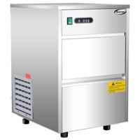 Costway Automatic Ice Maker Stainless Steel 58lbs/24h Freestanding Commercial Home Use