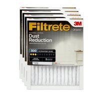 Filtrete 20x24x1, Clean Living Dust Reduction HVAC Furnace Air Filter, 300 MPR, Pack of 4 Filters