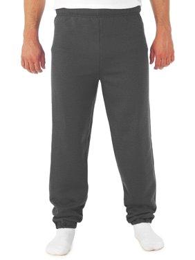 Men's Soft Medium-Weight Fleece Elastic Bottom Sweatpants