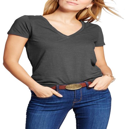 Womens V Neck Shirt Short Sleeve Solid Cotton T