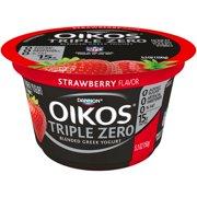 Oikos Triple Zero Fat-Free Greek Strawberry Yogurt, 5.3 oz