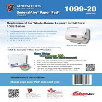 GeneralAire 1099-20 (2-Pack) - Vapor Pad for Legacy 1099 Humidifier