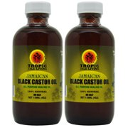 "Tropic Isle Living Jamaican Black Castor Oil 4 Oz ""Pack of 2"""