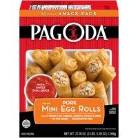 Pagoda® Pork Mini Egg Rolls with Sweet Chili Sauce Snack Pack 34 ct Box