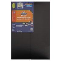 """Elmer's Premium Foam Tri-Fold Display Board, 3/16"""" Thick, 36"""" x 48"""", Black, 12-Pack"""