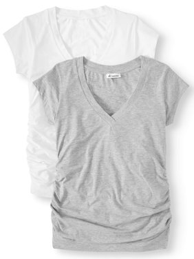 Maternity V-neck Tee 2 Pack - Available in Plus Sizes