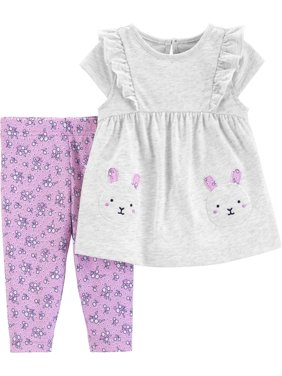 Tank Top and Pants Outfit Set, 2 pc set (Baby Girls)