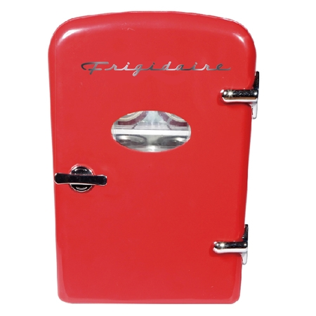 Snowman Fudge (Frigidaire Portable Retro 6-can Mini Fridge EFMIS129, Red )