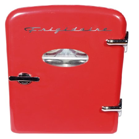 Frigidaire Portable Retro 6-can Mini Fridge EFMIS129, Red - Frigidaire Glass Refrigerator