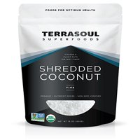 Terrasoul Superfoods Organic Fine Shredded Coconut, 1.0 Lb