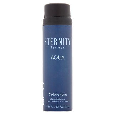 Calvin Klein Beauty Aqua Eternity for Men All Over Body Spray, 5.4 (Aqua Fragrance)