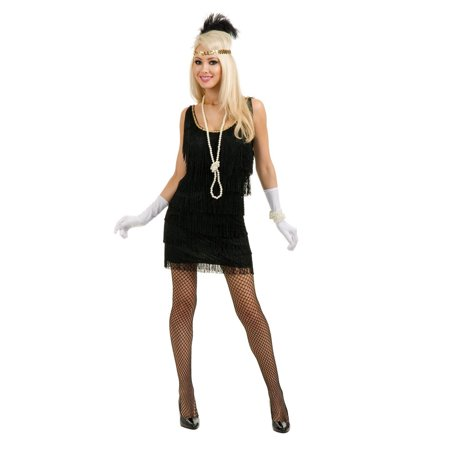 Halloween Fashion Flapper Adult Black - Halloween Themed Fashion