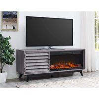 """Ameriwood Home Vaughn Fireplace TV Console for TVs up to 60"""" Wide Multiple Colors"""