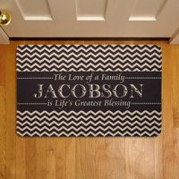 """Personalized Life's Greatest Blessing 17"""" x 27"""" Doormat"""