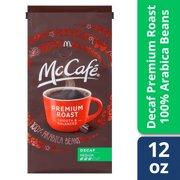 McCafé Premium Roast Decaf Ground Coffee, Medium Roast, 12 oz Bag