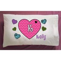 Personalized Hearts Pillowcase