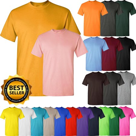 Mens Basic Crew Neck Tee Shirts Solid