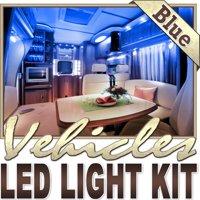 Biltek 16.4' ft Blue Motorhome RV Night Light Remote Controlled LED Strip Lighting SMD3528 Wall Plug - Motorhome Boat Cabin Yacht Lighting, Compartment Lighting, Interior Waterproof DIY 110V-220V