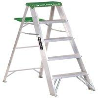 Louisville Ladder AS4005 5 ft. Aluminum Step Ladder, Type II, 225 lbs Load Capacity