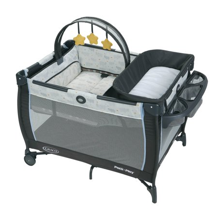 Graco Pack 'n Play Anywhere Dreamer Playard with Bassinet, Hattie (Graco Travel Playpen)