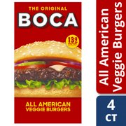 BOCA All American Veggie Burgers, 4 ct - 10.0 oz Box