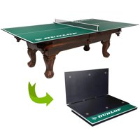 Dunlop Official Size Table Tennis Conversion Top, 100% Pre-assembled, Includes Premium Clamp Style Net and Post