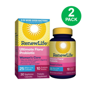 Renew Life Women's Probiotic - Ultimate Flora  Probiotic Women's Care, Probiotic Supplement - 25 Billion - 30 Vegetable Capsules