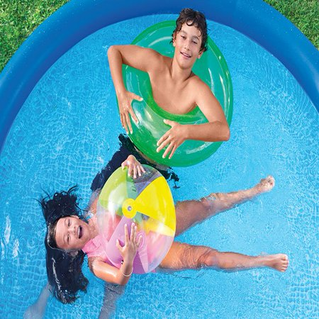 Intex 8 ft x 30 inch easy set inflatable round above - 8 foot above ground swimming pools ...