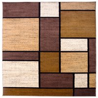 World Rug Gallery Contemporary Modern Boxes Area Rug or Runner