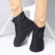e852fadea546 IClover 360 Waterproof Rainproof PVC Fabric Zippered Shoe Covers Rain Boots  Overshoes Protector Bike Motorcycle Anti