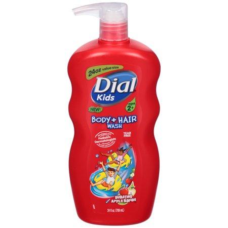 Dial Kids Body + Hair Wash, Bursting Apple Rapids, 24 Ounce 24 Ounce Aluminum Scoop