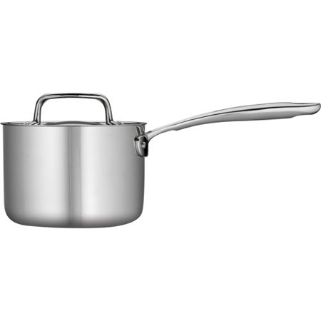 Copper Tri Ply - Tramontina 1.5-Qt Stainless Steel Tri-Ply Clad Sauce Pan with Lid