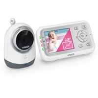 VTech VM3251 Expandable Digital Video Baby Monitor with Full-Color & Automatic Night Vision, white