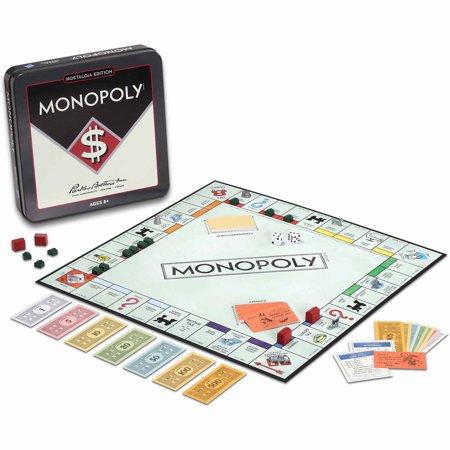 Monopoly Board Game Nostalgia Edition Game Tin (Monopoly Board Games)