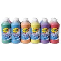 Crayola Assorted 16 Oz Washable Paint Bottles, 12 Count