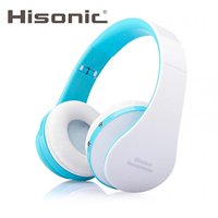 Hisonic HS8252 Foldable Noise Cancelling Wireless Stereo Bluetooth Headphones with Microphone (Blue and White)