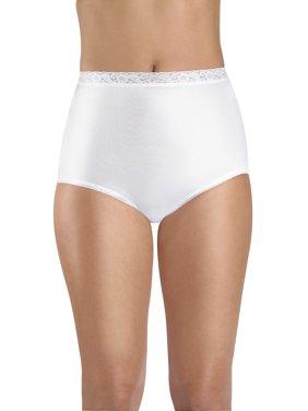 Women's Nylon Brief Panties - 6 Pack