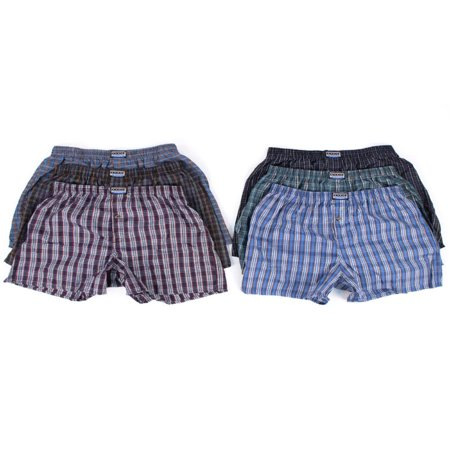 Men's 6 Plaid Boxer Shorts Underwear
