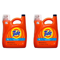 (2 pack) Tide Liquid Laundry Detergent, Clean Breeze, 96 Loads 150 fl oz